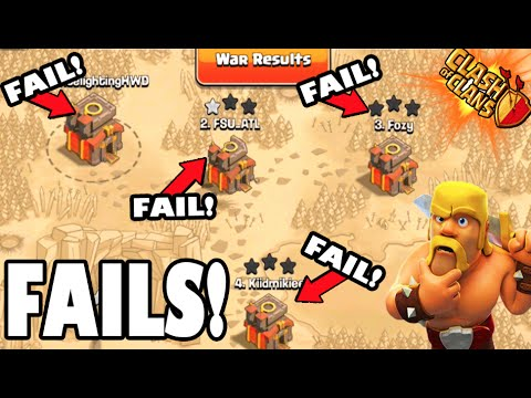 Clash of Clans - How NOT to Attack!