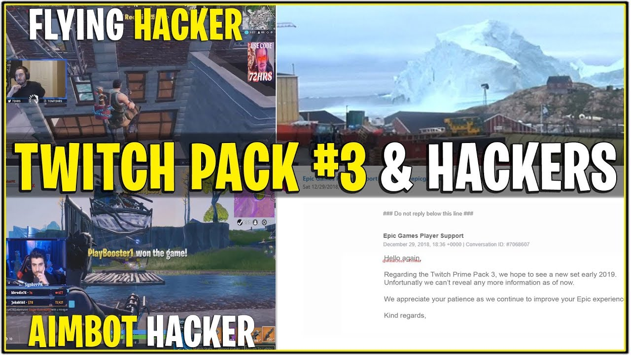 New Fortnite News Update Twitch Prime Pack 3 Hackers Taking Over