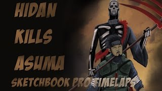 SKETCHBOOK PRO - HIDAN KILLS ASUMA