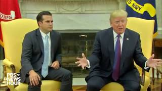 WATCH: President Trump and Puerto Rico Governor Rossello speak in the Oval Office