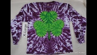 How to Tie Dye a 3 Leaf Clover or Shamrock