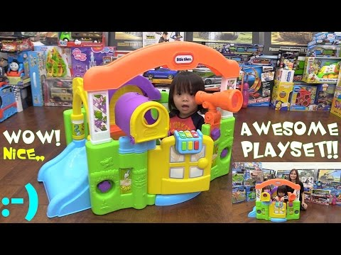 Toddler's PLAY HOUSE Playtime Fun! Little Tikes Activity Garden Playset Unboxing