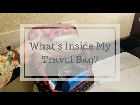 What's in my business travel carry-on luggage and toiletry bag?