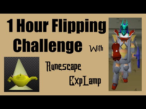 [OSRS] WHO CAN MAKE THE MOST MONEY FLIPPING?? - A 1 hour flipping challenge with RunescapeEXPLamp!!