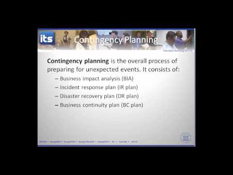 Contingency Planning 1