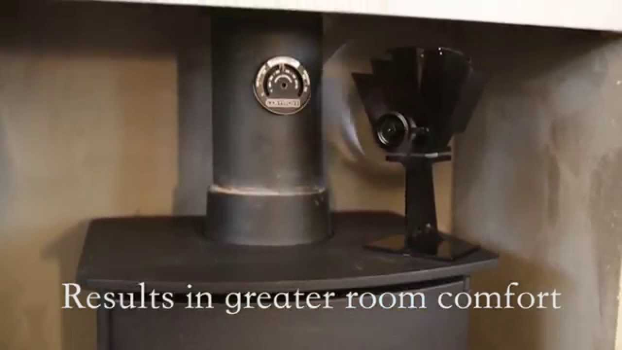 Heat powered fans for wood stoves - Cosystove 4 Blade Heat Powered Stove Fan