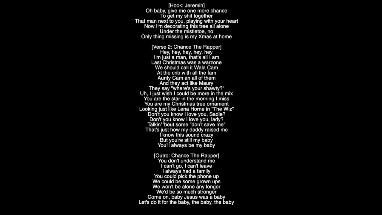 Chance Christmas Album.Full Lyrics Stranger At The Table Jeremih Chance The Rapper Album Merry Christmas Lil Mama