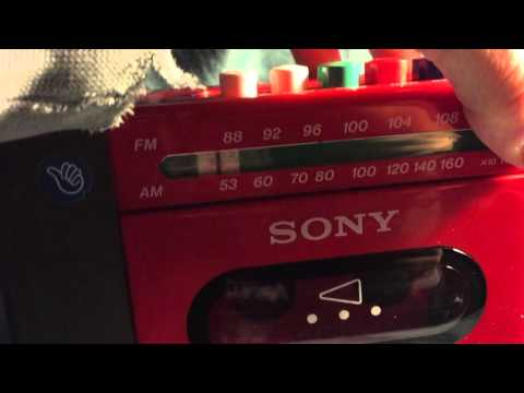 My First Sony Vintage Portable AM FM Radio Cassette Player Toy CFM-2000 Recorder