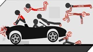 МАШИНКИ ДАВЯТ СТИКМЕНОВ - Игра Stickman Annihilation 2 обзор и прохождение. Игры на андроид