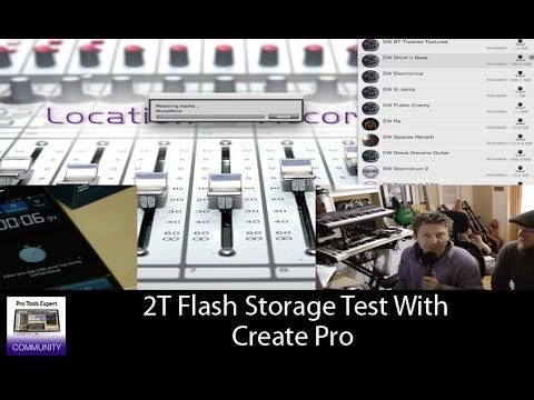 2T Flash Storage Test With Create Pro