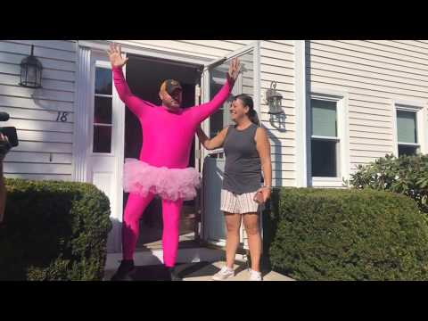 Tony Bristol - Massachusetts Father Mows Lawn in a Tutu After Losing Bet With His Daughter