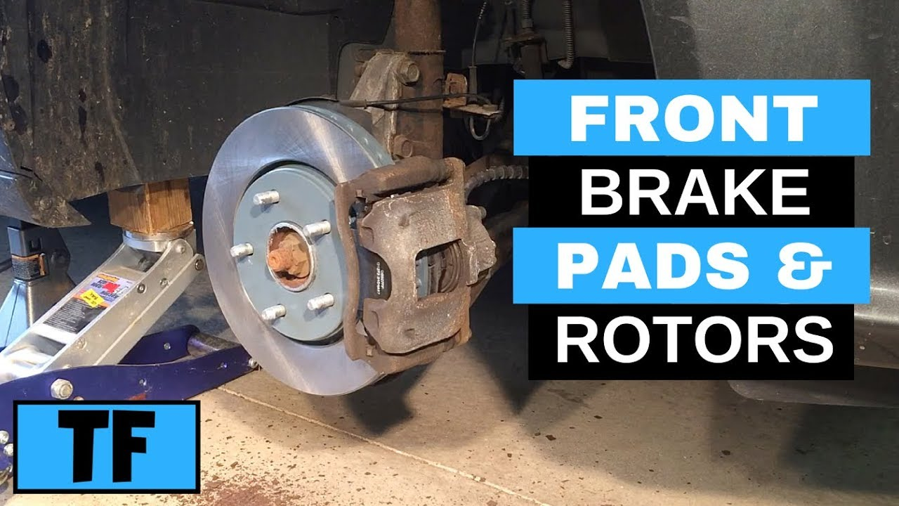 how to replace 2012 dodge grand caravan front brakes pads rotor replacement step by step [ 1280 x 720 Pixel ]