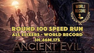 Ancient Evil - 100 Speed Run World Record 🏆 All Elixers (3h 46m 17s) BO4 Zombies
