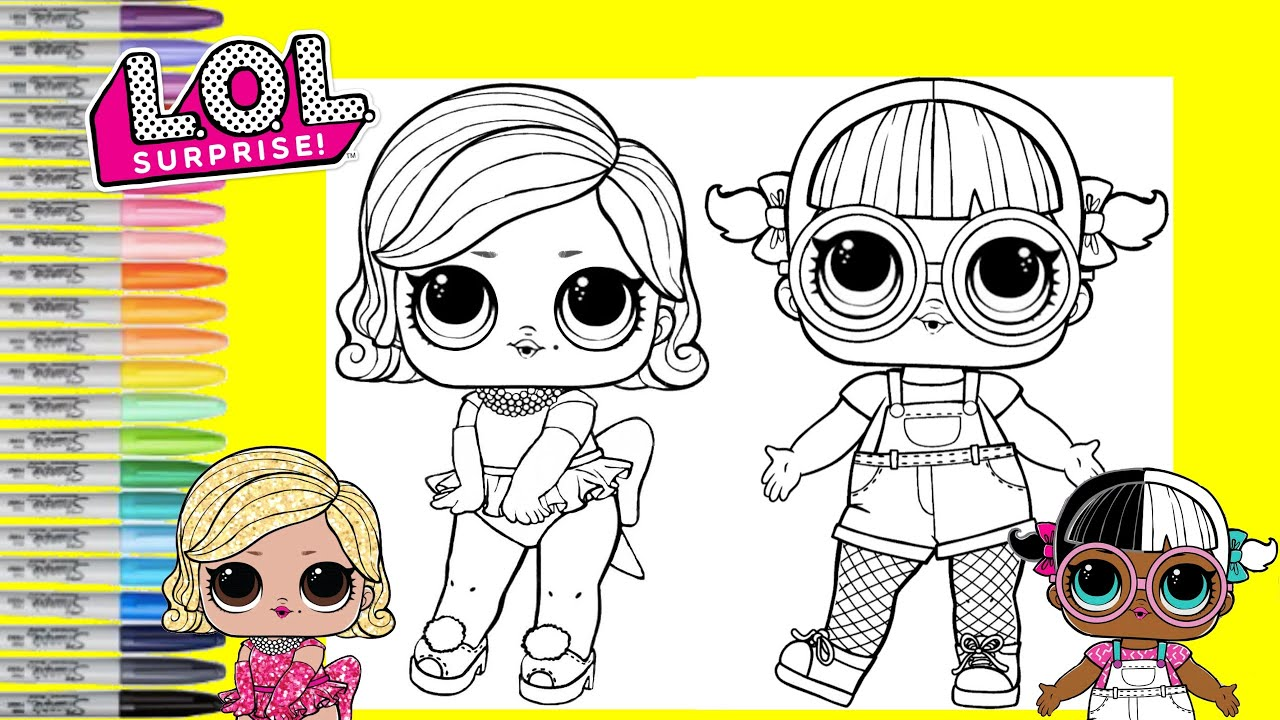 Lol Surprise Dolls Coloring Book Page Hairgoals Glamour Queen And Baby Next Store