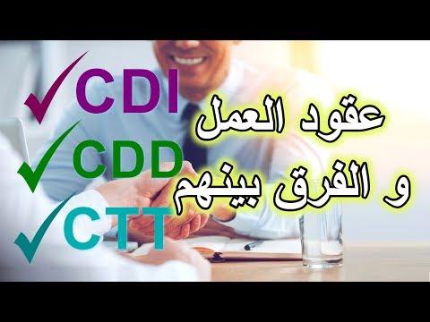 عقود العمل | CDI - CDD - CTT والفرق بينهم