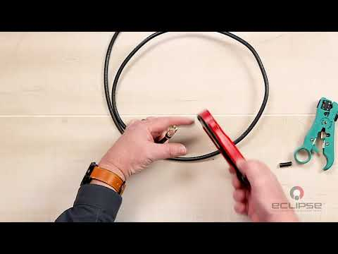 How To Crimp CATV Compression Connectors (F, BNC, RCA)