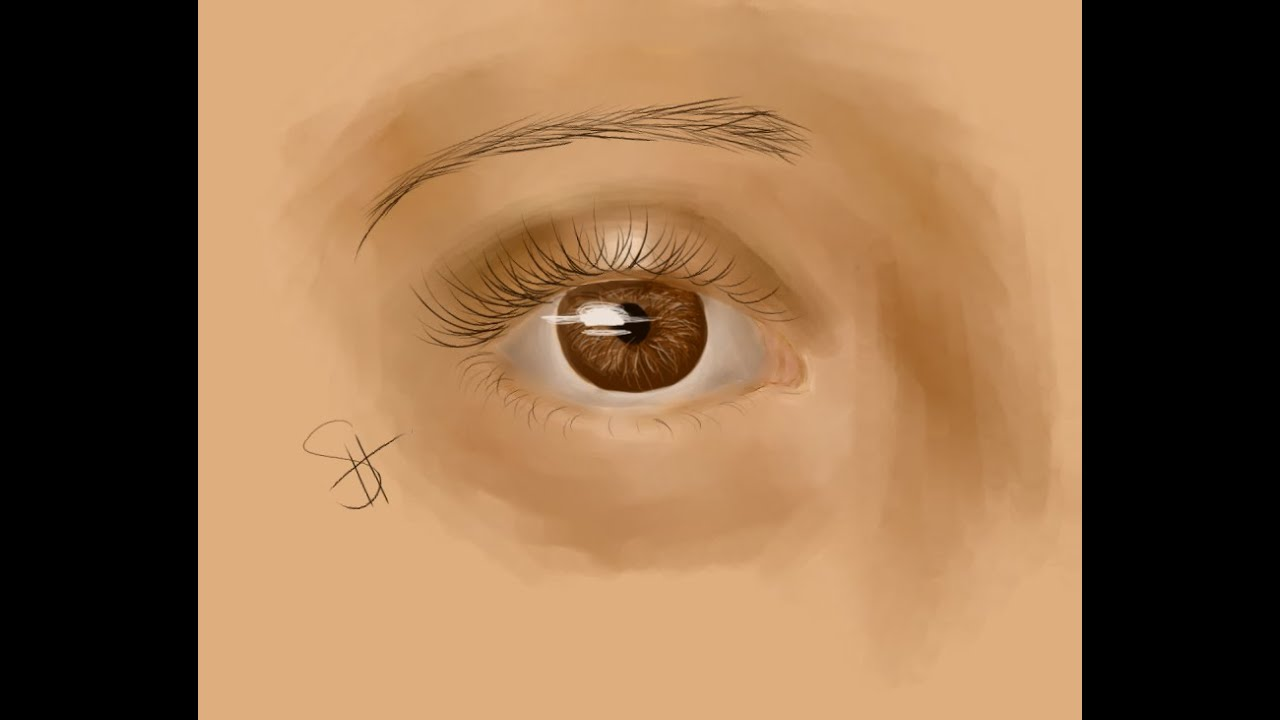 How To Draw Brown Eyes - YouTube