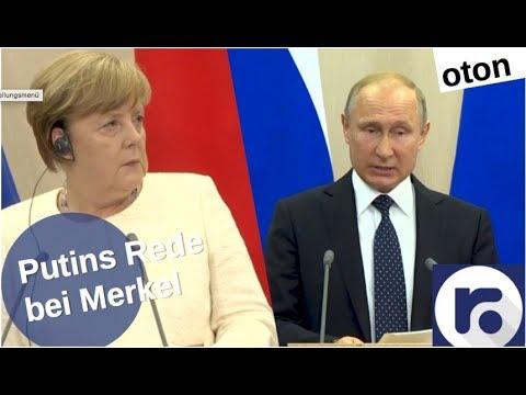 Putin mit Merkel in Sotschi auf deutsch