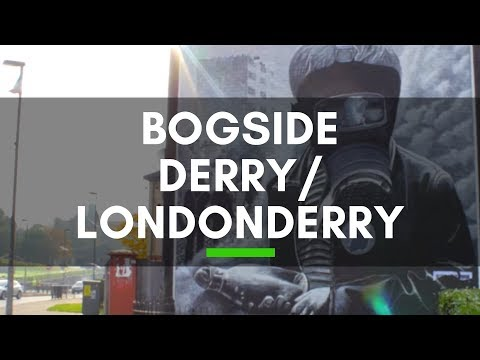 Irish Murals Mark The Troubles in Bogside Derry/Londonderry