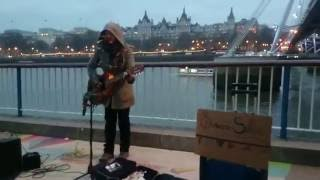 Adele / Bob Dylan - Make You Feel My Love (cover by Susana Silva) - busking in the streets of London