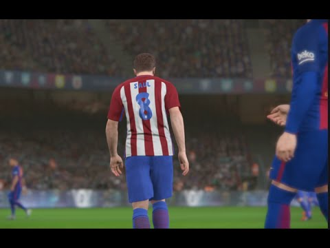 Barcelona Vs Atletico Madrid-Pes 2017 Game play/ Liga BBVA prediction/ PS4 Games
