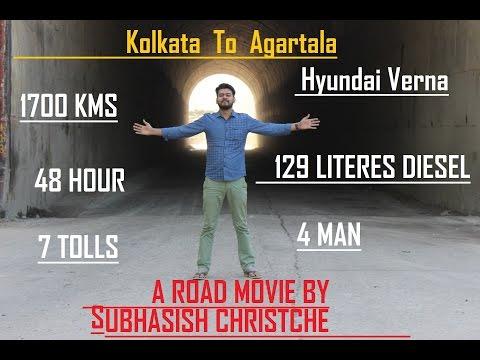 Kolkata to Agartala by A Car | Hyundai Verna Long Trip | WB TO Tripura - A Road Movie