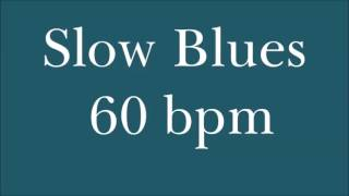 [Drum Loop for Practice] Slow Blues 60 Bpm