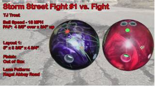 Storm Street Fight Bowling Ball Reaction Video Ball Review {vs} Storm Fight