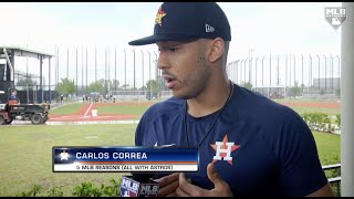 Carlos Correa discusses the Astros investigation with Ken Rosenthal