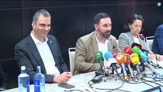 Rueda de prensa de Santiago Abascal tras el Primer Comité ejecutivo de VOX