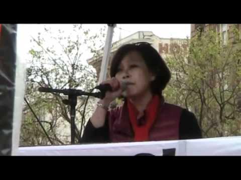 Libya protest: GADDAFI is a  HERO! San Francisco USA march 2011.[libyasos]