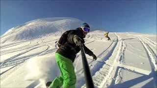 Sheregesh (Шерегеш - сноуборд) - спуск с г.Мустаг