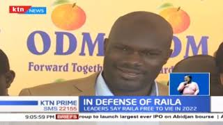 Section of ODM leaders call out critics pushing for retirement of opposition leader Raila Odinga