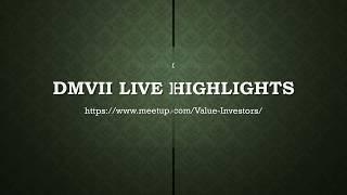DMVII 09/09/2017 Highlights