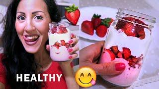COPPA FRAGOLE e PANNA con ZERO CALORIE!!! | Carlitadolce Cucina - Healthy Breakfast Idea