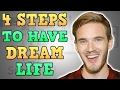 4 STEPS TO CREATE YOUR DREAM LIFE - HINDI Motivational Video