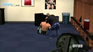 smackdown vs raw 2011 road to wrestlemania rey mysterio vs evan bourne backstage