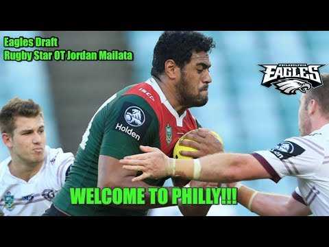 Eagles Live Reaction: Draft The Beast From The East!!! Eagles Draft Rugby Star Jordan Mailata.