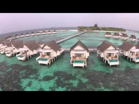 Drone flight in Maldives