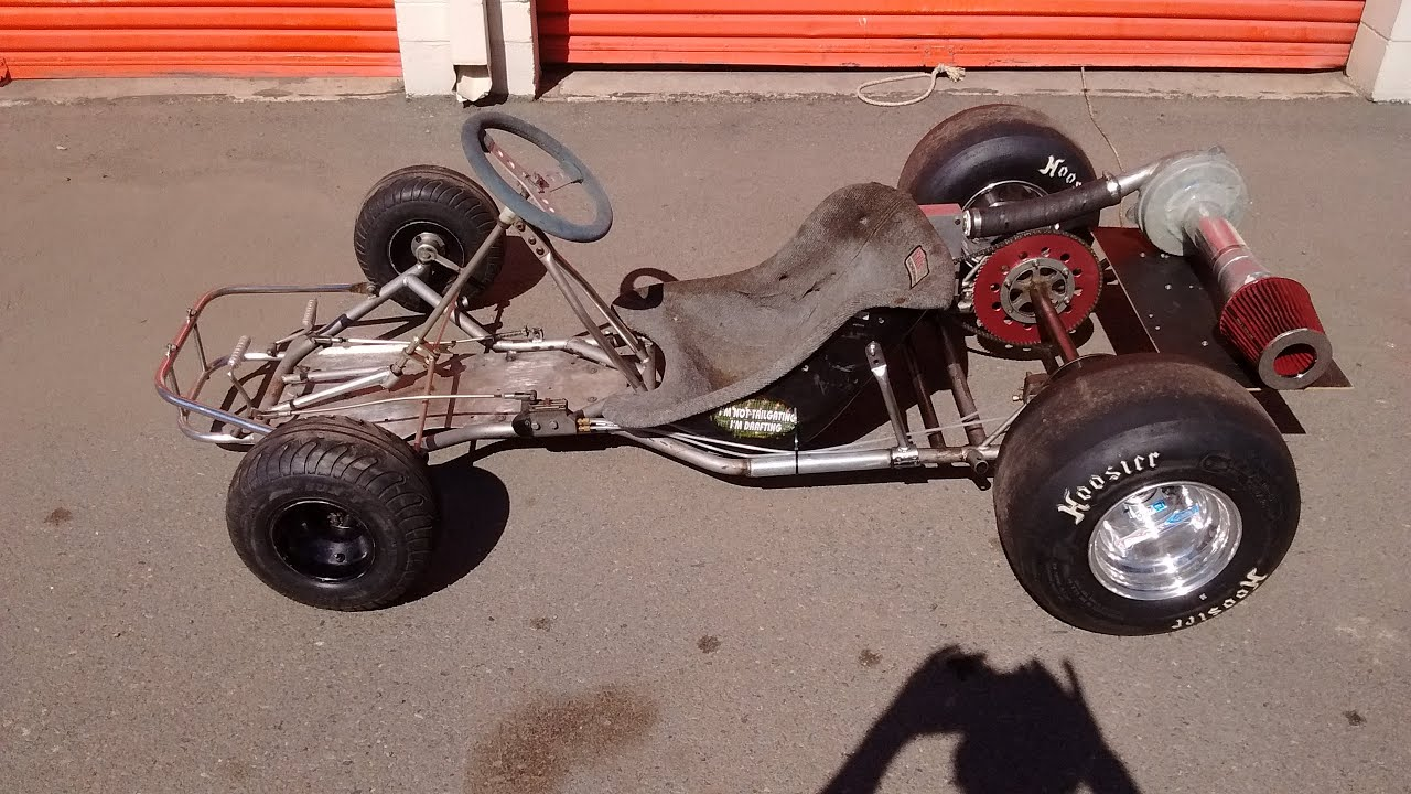 THE KENDALL MOTOR pressed Air Turbine Drag Go Kart Project