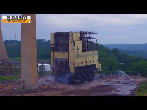 Implosion of Boiler at AEP Muskingum near Beverly Ohio By DetroitWrecker