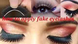 Baixar नकली पलकें लगाते वक़्त इस बात का ध्यान जरूर रखें// how to apply fake eyelashes( step by step)