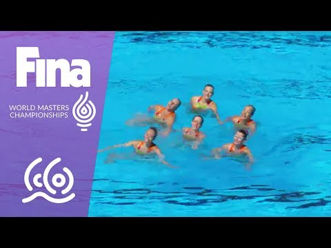 RE-LIVE - Synchro Day 6: Team Free | FINA World Masters Championships 2017 - Budapest