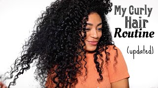 UPDATED Curly Hair Routine (FINALLY!) Natural Hair | jasmeannnn