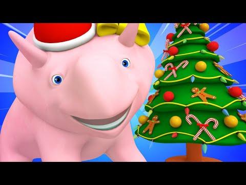 Boże Narodzenie kierunki lewo i prawo z Dino i Diną ucz się z Dino dinozaurem Bajki Edukacyjne