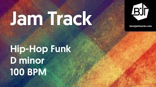 Hip-Hop Funk Jam Track in D minor - BJT #19