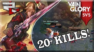 3.3 Vainglory 5v5 Ranked: Bot lane Wp Black Feather: Love Getting Fed!