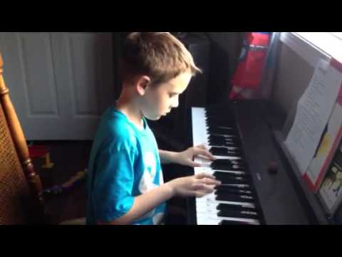 8 year old playing Kari Jobe's Revelation song on the piano