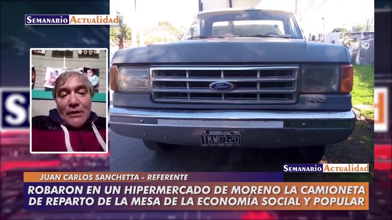 Robaron en un hipermercado de Moreno la camioneta de reparto de la Mesa de Economía Social y Popular