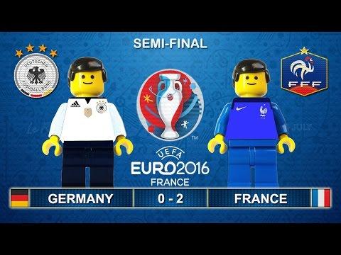 Euro 2016 Semi Final Germany Vs France 0 2 In Lego Football